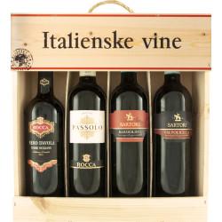 Italienske Vine 4er Trækasse