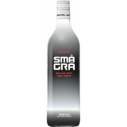Små Grå Bolche Shot Med Vodka