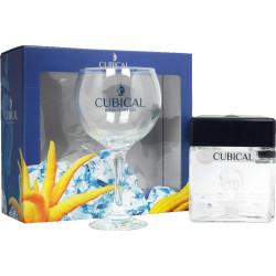 Cubical London Dry Gin Gaveæske med glas